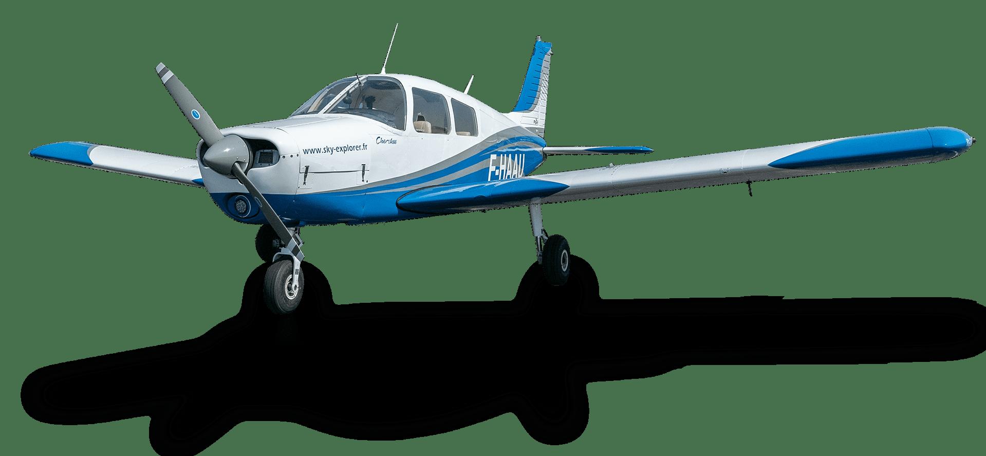 Piper Pa-28 Cherokee (F-HAAU) Sky Explorer Ecole Aviation Aix Les Milles