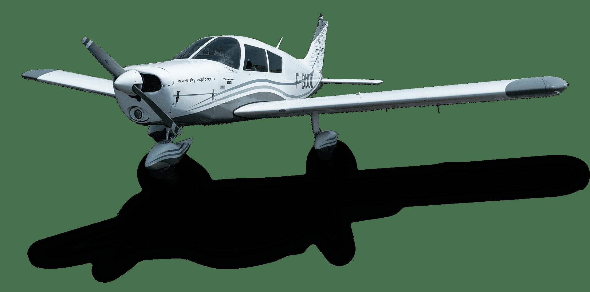 Piper Pa-28 Cherokee (F-BUUC) Sky Explorer Ecole Pro Aviation Aix Les Milles