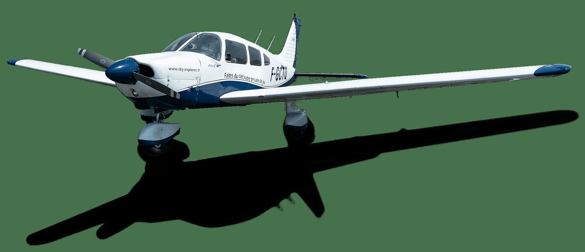 Piper Pa-28 Archer 2 181 (F-GCTQ) Sky Explorer Ecole Aviation Aix Les Milles